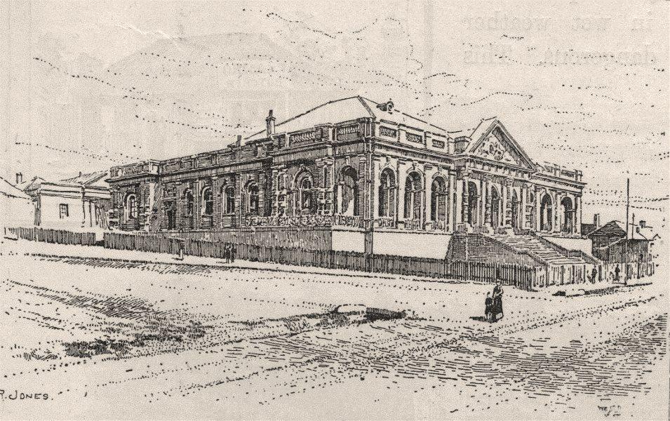 Associate Product The Court House, Yass. Australia 1890 old antique vintage print picture