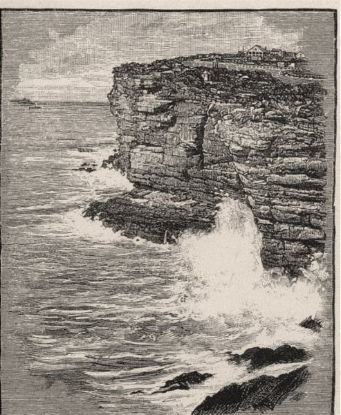 Associate Product Rocks, South Heads. Sydney. Australia 1890 old antique vintage print picture