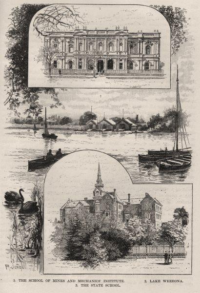 Associate Product School of Mines & Mechanics Institute. Lake Weerona. State School Sandhurst 1890