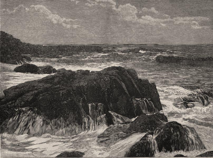 Associate Product Broken Water, Lorne. Lorne. Australia 1890 old antique vintage print picture