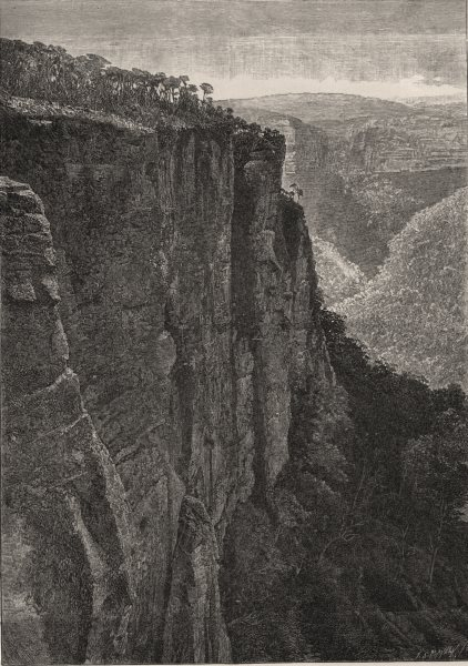 Associate Product The Cliffs, Mount Victoria. The Blue Mountains. Australia 1890 old print