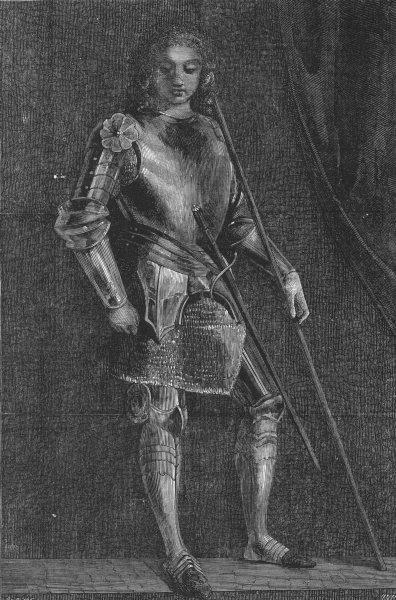 Associate Product FRANCE. Gaston de Foix, antique print, 1856