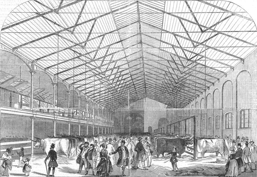Associate Product LONDON. The Smithfield Prize Cattle Show-1845, antique print, 1845