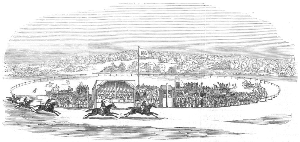 Associate Product HAREWOOD HOUSE. Races wheat croft-cod Thompson's Hamlet win Lascelles cup, 1845