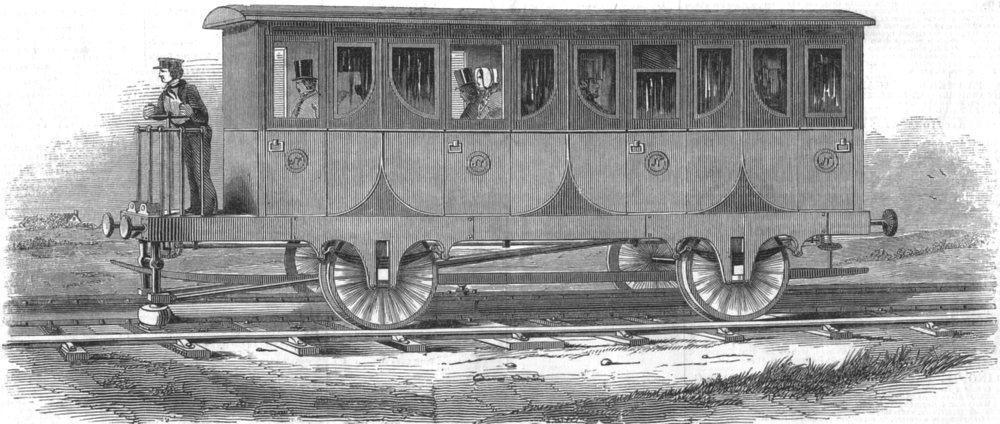 Associate Product RAILWAYS. Nickelss new Railway, antique print, 1845