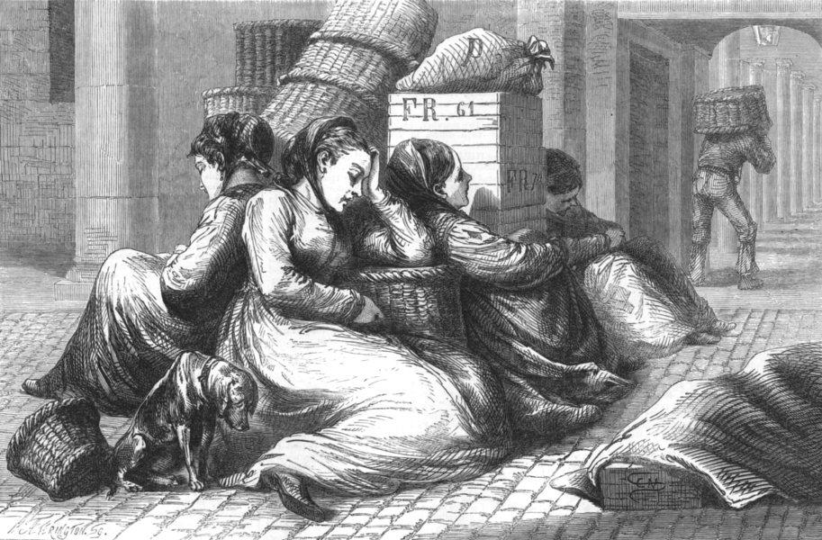 Associate Product LONDON. Covent-Garden market women, antique print, 1873