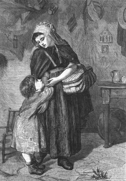 Associate Product CHILDREN. May I go with you?, antique print, 1868