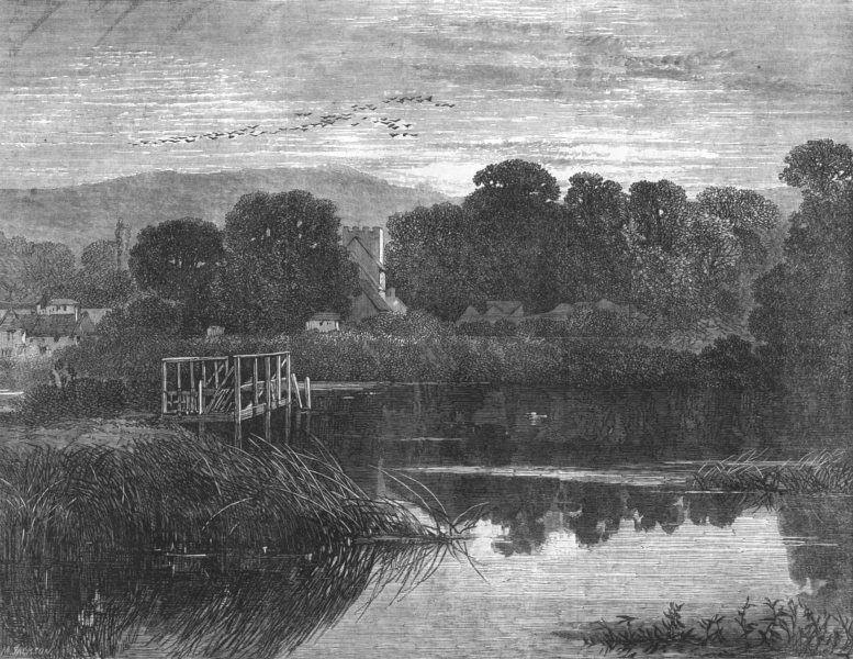 Associate Product DECORATIVE. The Turner Gold medal Landscape of the Royal Academy, print, 1868