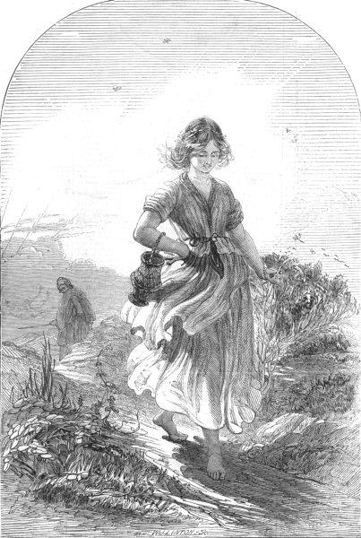 Associate Product PRETTY LADIES. Light, antique print, 1845