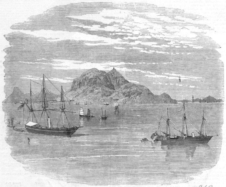 Associate Product CHINA. Tiger Island, antique print, 1856