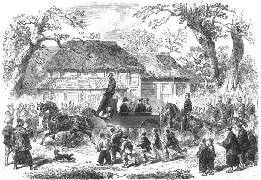 Associate Product JAPAN.Sketches of Japan.Driving the Gorogio on the Tokaido Road, Yokohama, 1866