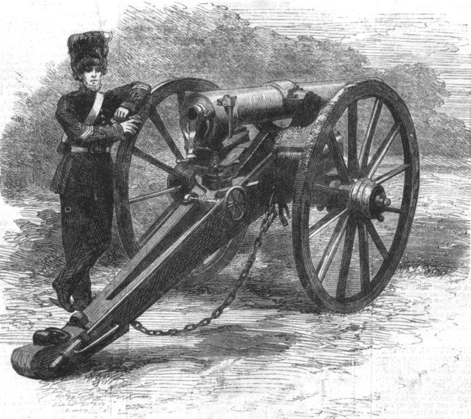 Associate Product MILITARIA. Mr Clay's new Breech-loading gun, antique print, 1862