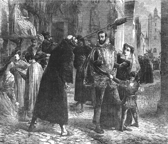 Associate Product PARIS.Time of the Persecution of the Christian Reformers in Paris, in 1559, 1854