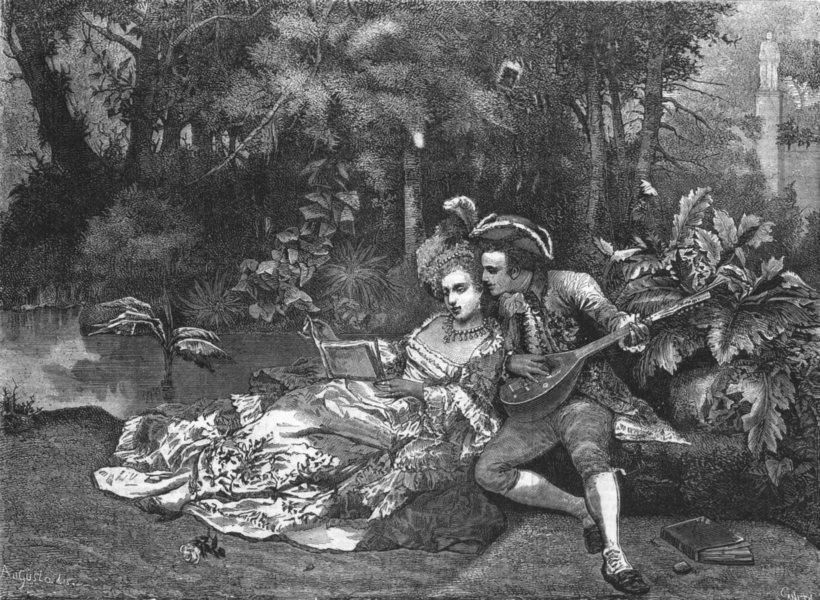 Associate Product ROMANCE. An Idyll, antique print, 1877