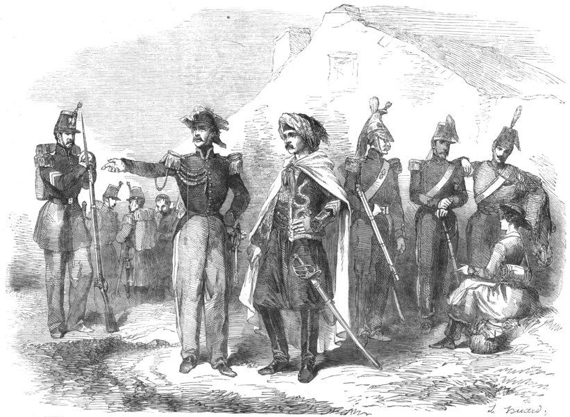 Associate Product MILITARY.Officier D'Etat Maj;Spahis;Dragoon;Artilleryman;Hussar;Cantiniere, 1854