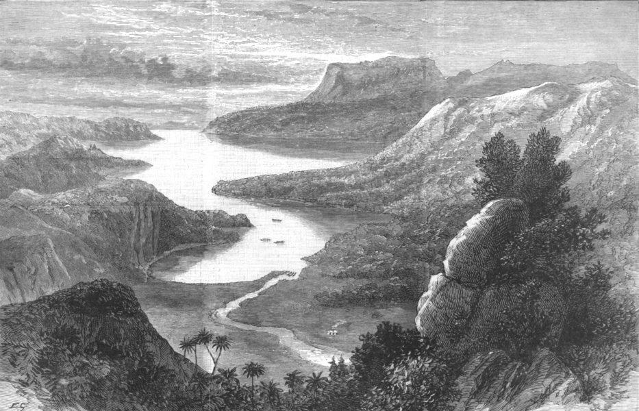 Associate Product NEW ZEALAND. Lake Tarawera, volcanic eruption in, antique print, 1886