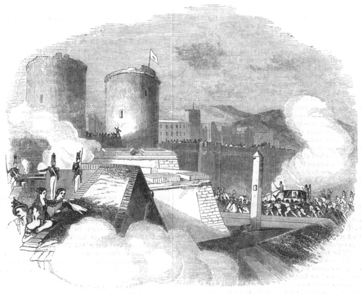 Associate Product SPAIN. Queen Christina's Progress in Spain. The arrival at Barcelona, 1844