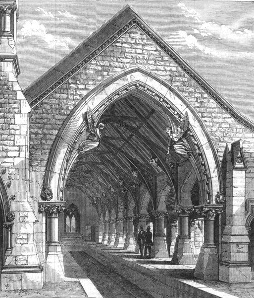 SYDNEY. Receiving-house of the redfern cemetery, near Sydney, old print, 1870