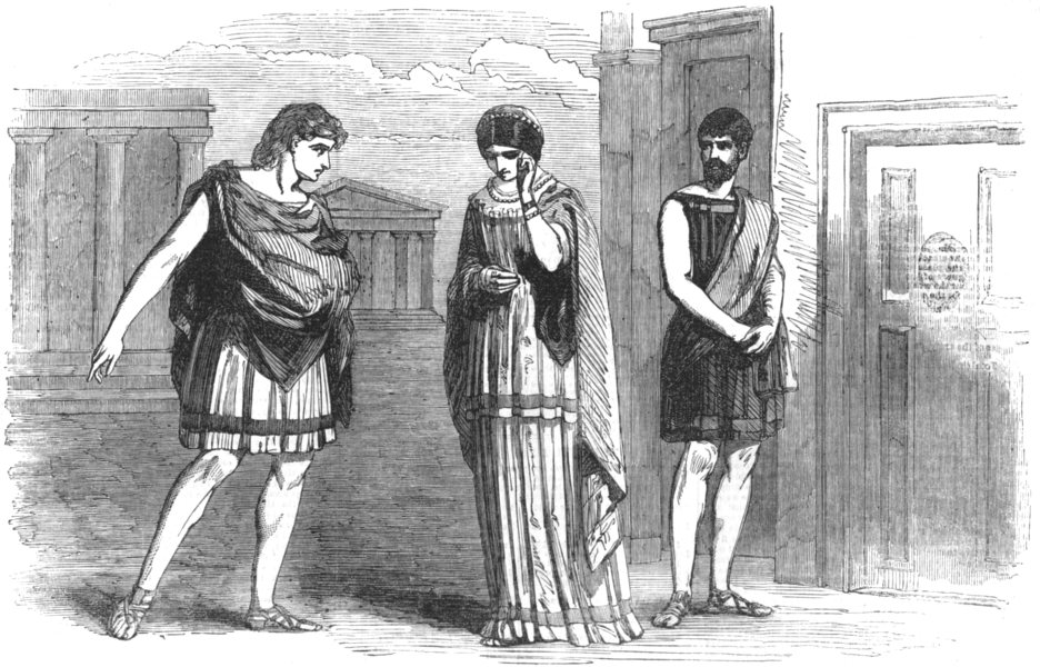 Associate Product LONDON. The Westminster play-Scene from Terence's Eunuchus, act 1, scene 1, 1854