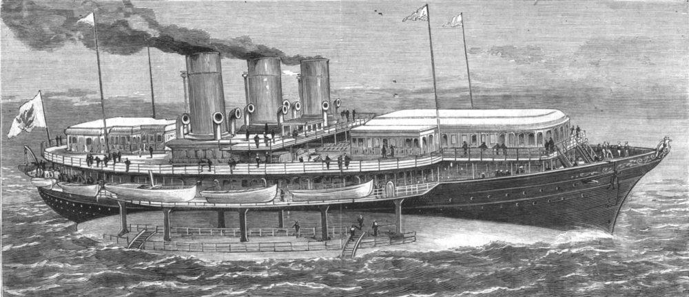 Associate Product ROYALTY. The Czar's new yacht Livadia, antique print, 1880