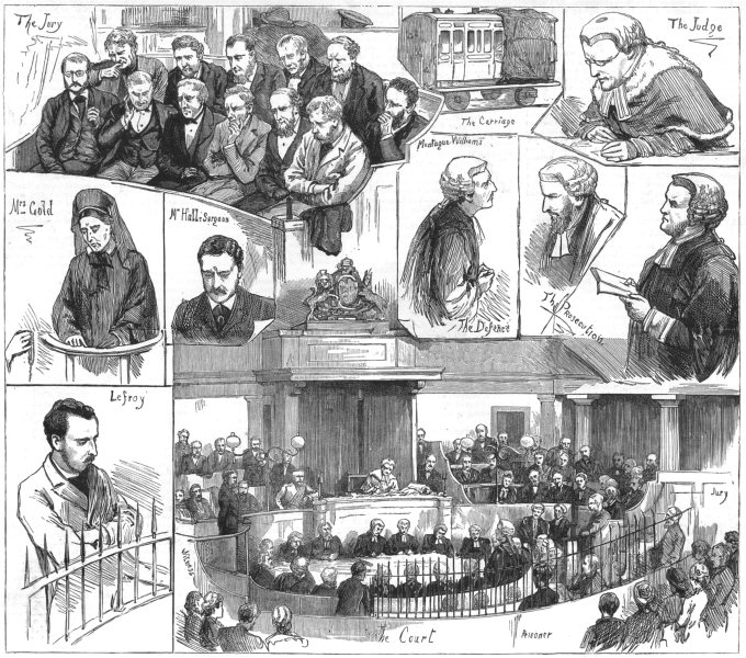 Associate Product BRIGHTON. railway tragedy-notes Ct trial Percy lefroy Mapleton, old print, 1881