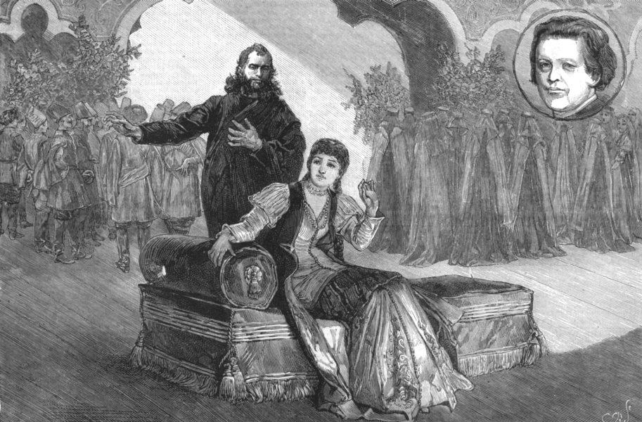 Associate Product OPERA. Rubinstein's Il Demonio at the Covent Garden theatre, antique print, 1881
