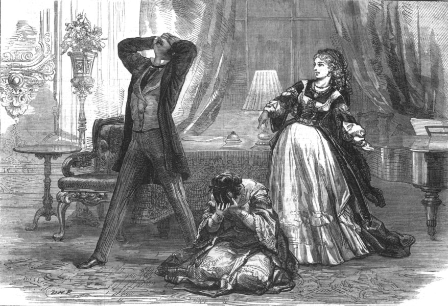 Associate Product LONDON. Scene from Fernande, at the St Jamess theatre, antique print, 1870