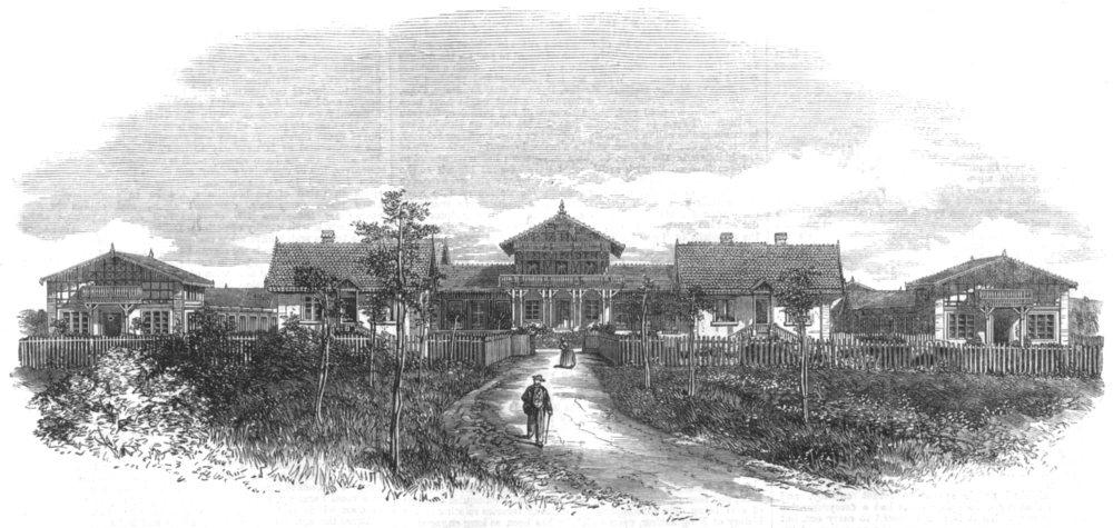 Associate Product HAUT-RHIN. The fish Nurseries at Huningue, France, antique print, 1864