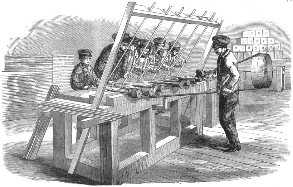 Associate Product ENGINEERING. Drilling Machine, antique print, 1851