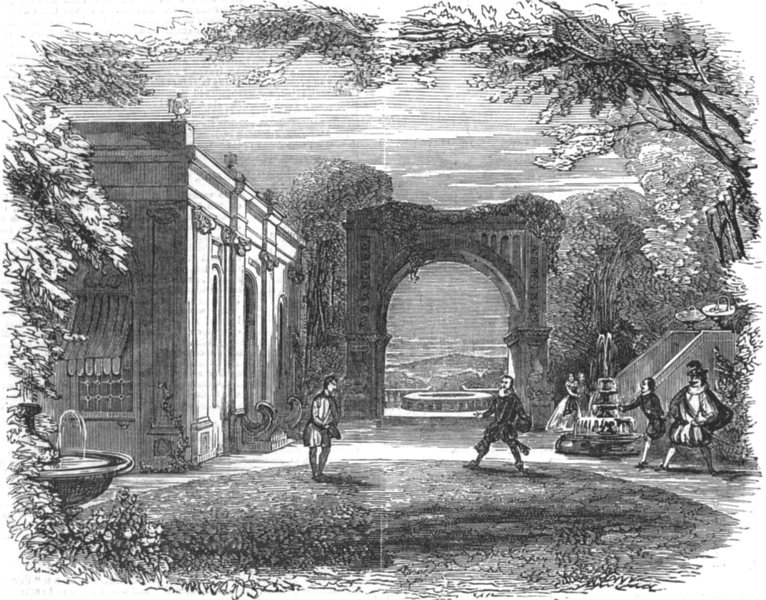 Associate Product LONDON. Scene from The Honest man's fortune, at Sadler's wells Theatre, 1849