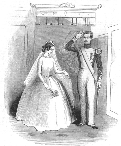 Associate Product LONDON. Scene from The Marriage of Reason at the Haymarket Theatre, print, 1844