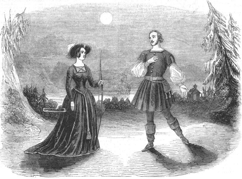 Associate Product LONDON. Duprez & Miss Romer, Opera of Guillaume Tell Drury Lane theatre, 1844