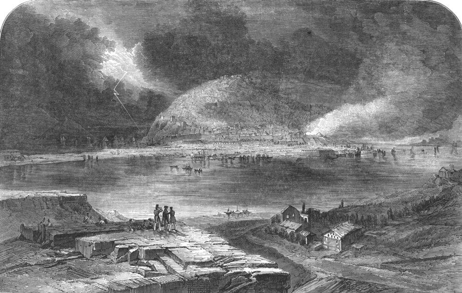Associate Product SPAIN. Storming of San Sebastian; new campaigns Duke Wellington, old print, 1852