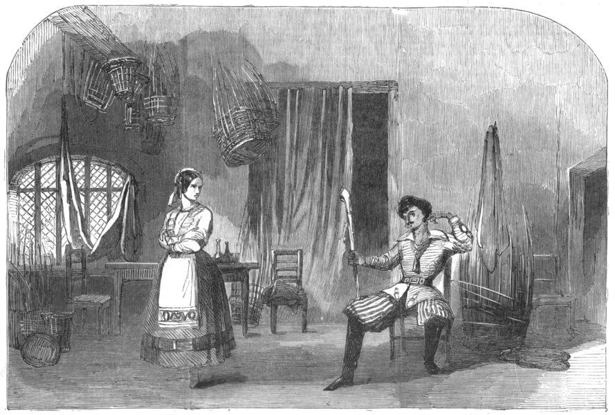 Associate Product OPERA. Balfe's opera of devil's in it at Surrey Theatre, antique print, 1852
