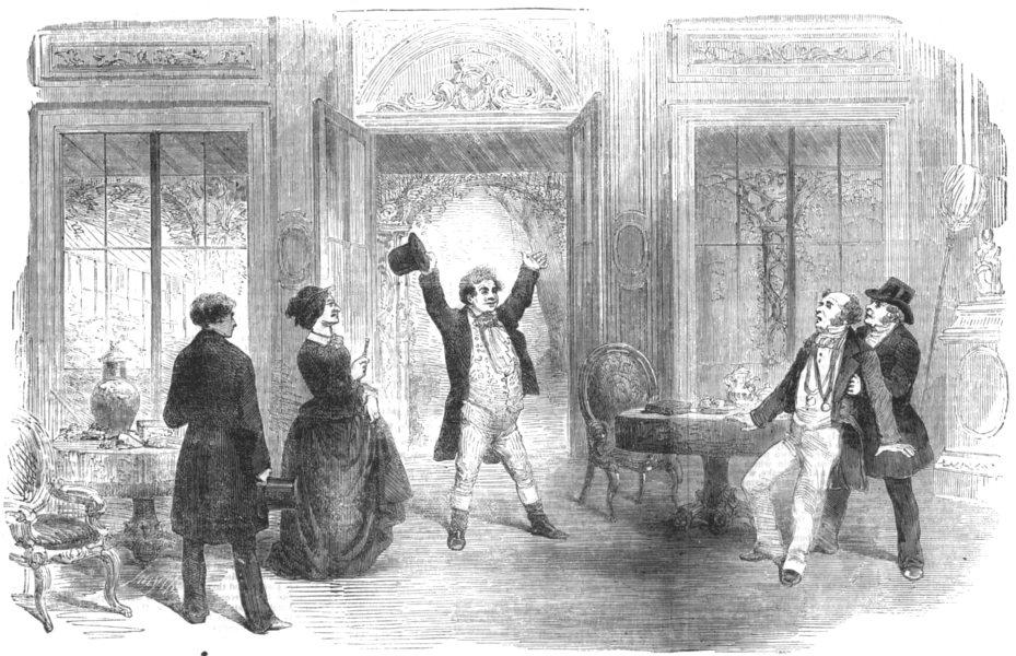 Associate Product LONDON. Drama Evil Genius Haymarket Theatre, antique print, 1856
