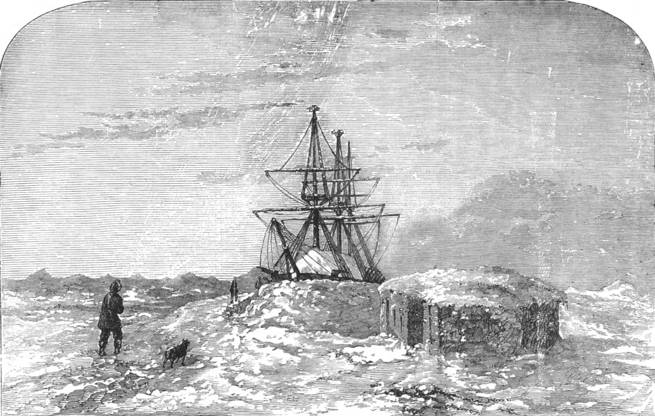 CAMDEN. Capt Collinsons Arctic Expedition. HMS Enterprise Winter-quarters, 1855