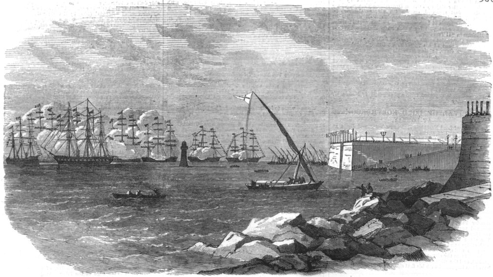 Associate Product SCOTLAND. H M S Glasgow arriving at Mumbai with the new Viceroy of India, 1872