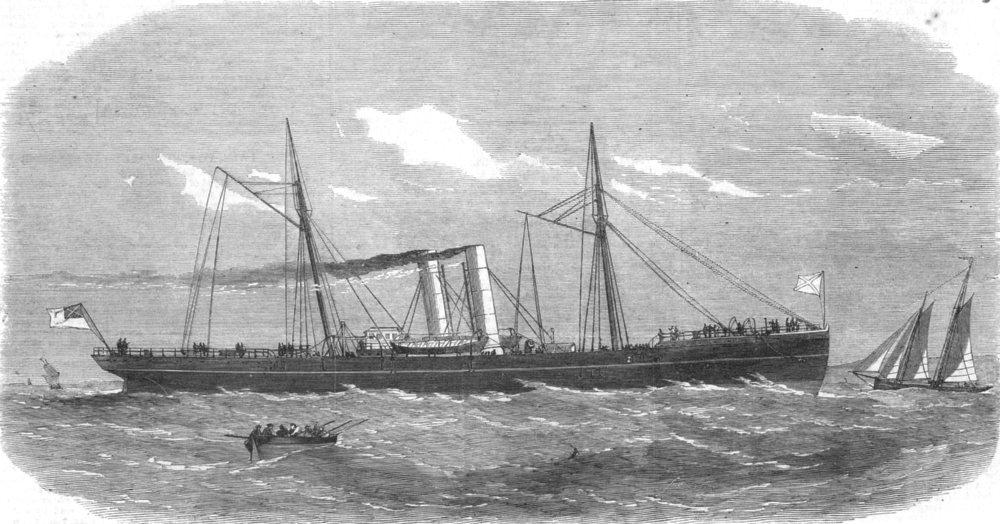 Associate Product US CIVIL WAR.The Late confederate war-steamer Tallahassee,now at Liverpool, 1865