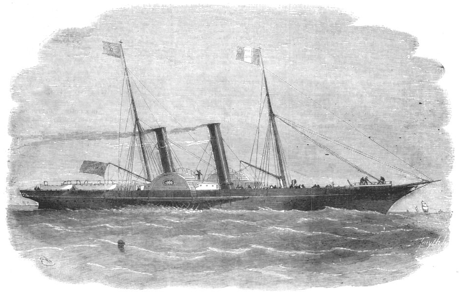 Associate Product SEINE-MARITIME. The South-Western railway company's new steam-ship Havre, 1856