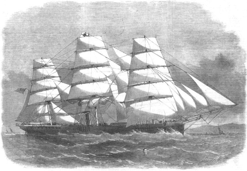 Associate Product LONDON. New Iron Ship, built for Australian trade, money Wigram Blackwall, 1864