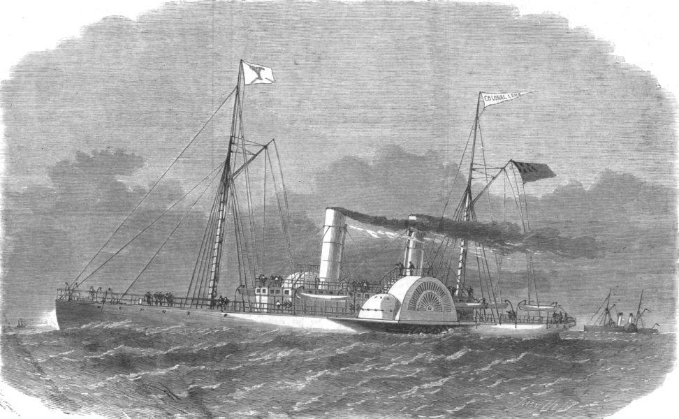 Associate Product US CIVIL WAR. Ships. The Colonel Lamb Blockade-runner, built at Liverpool, 1864