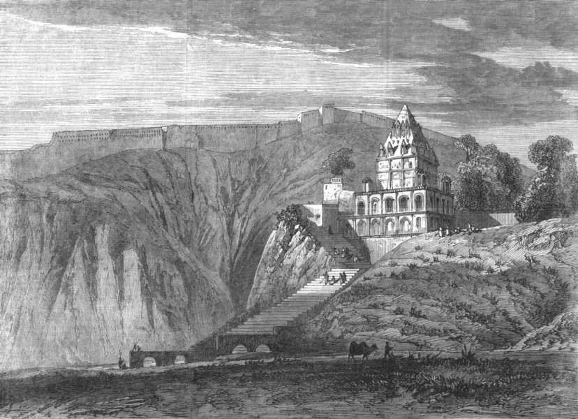 Associate Product INDIA. Kalpi Calpee, antique print, 1866