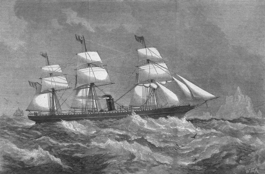 Associate Product MASSACHUSETTS. The City of Boston steam ship, antique print, 1870