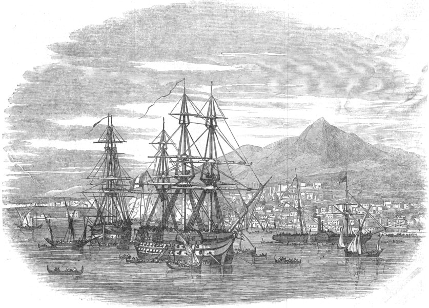 Associate Product ITALY. The Taking of Messina, antique print, 1848