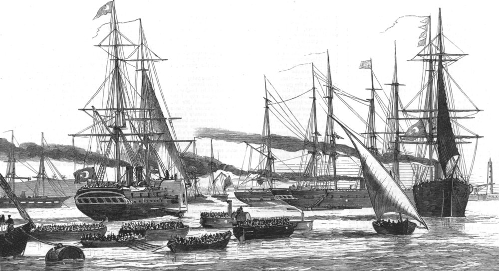 Associate Product EGYPT. The War in the East-Egyptian Troops leaving Alexandria for the war, 1876