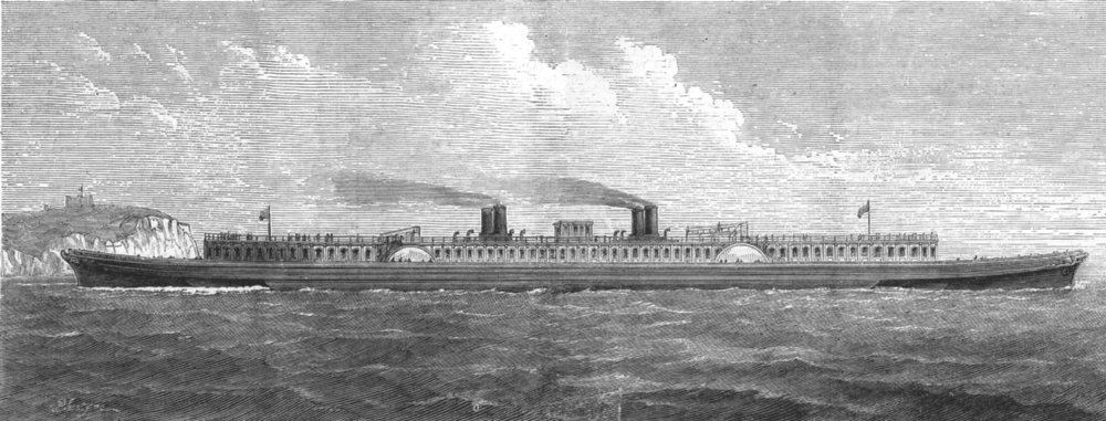 Associate Product SHIPS. Planned Improved Channel ship. S J Mackie's steamer, antique print, 1872