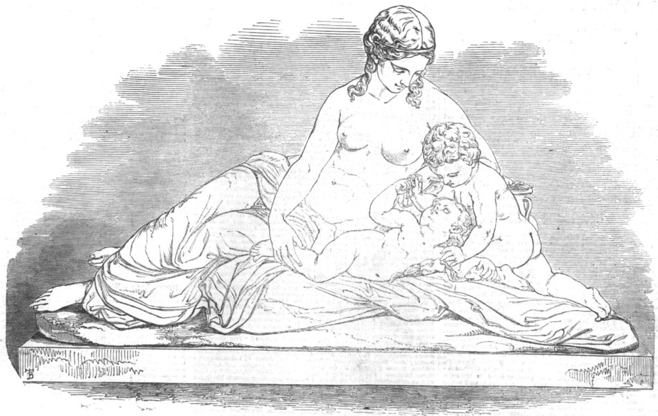 Associate Product FAMILY. The Mother, antique print, 1851