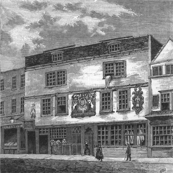 Associate Product THEATRE. The Fortune theatre, antique print, c1880