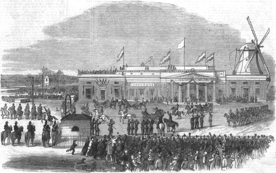 Associate Product NETHERLANDS.Visit of King Holland to Amsterdam 9th Inst.Majesties Station, 1861