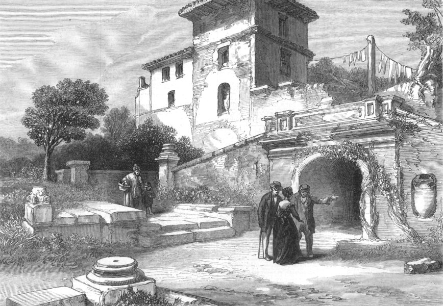 Associate Product ITALY. Tombs Of The Scipios, antique print, 1872